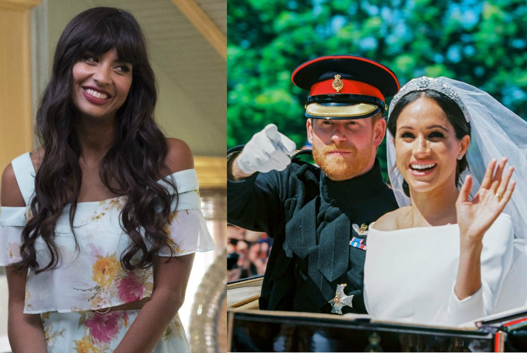 """The Good Place's @jameelajamil  confirms Tahani was the """"mutual friend"""" who set up Harry and Meghan, because of course she was https://t.co/jvy2EPXUoR"""