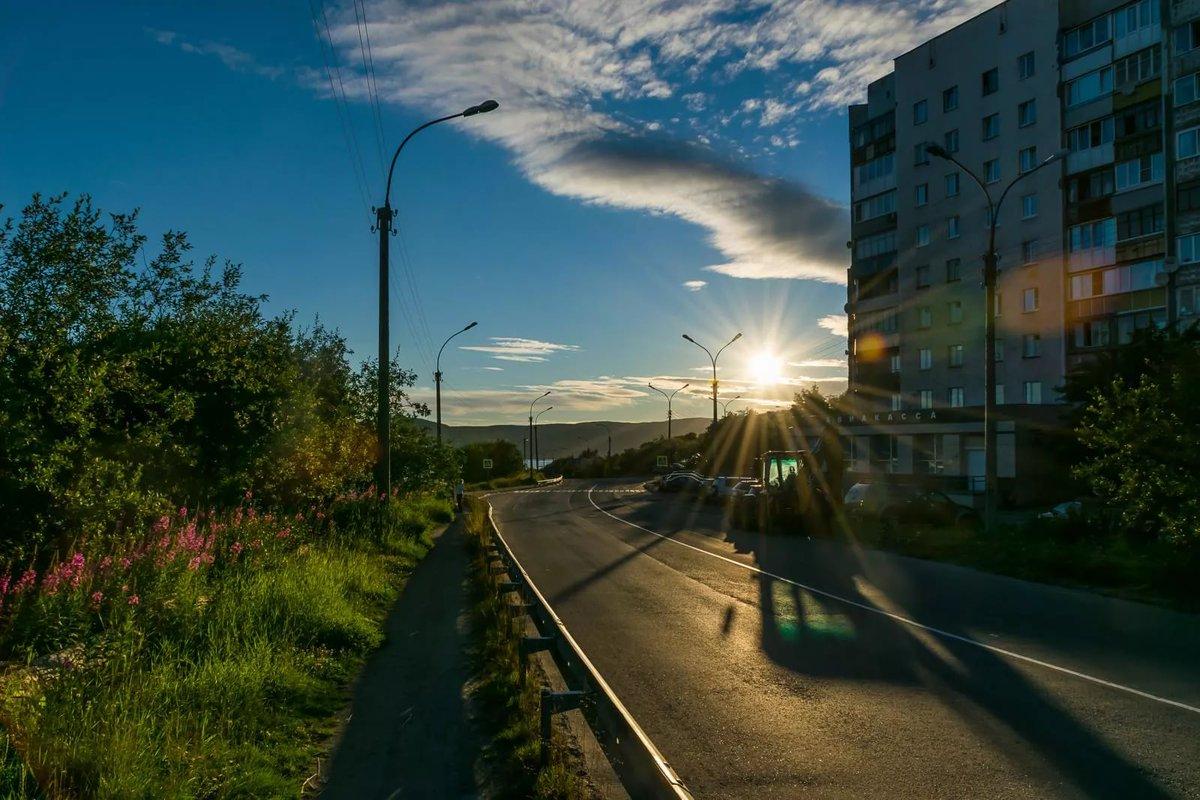 определенный полярный день мурманск фото мирного неба