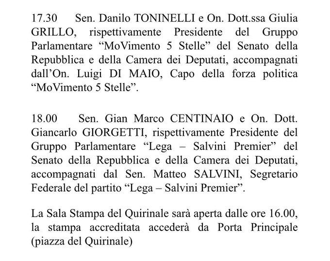 Top Tweets Italy 23-May-2018