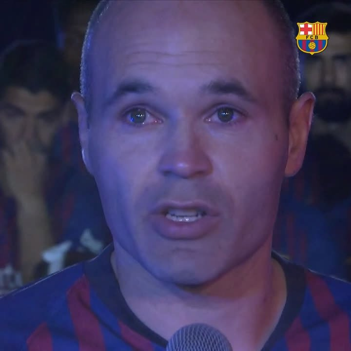🙌  The most emotional video of the night 😭 #infinit8iniesta
