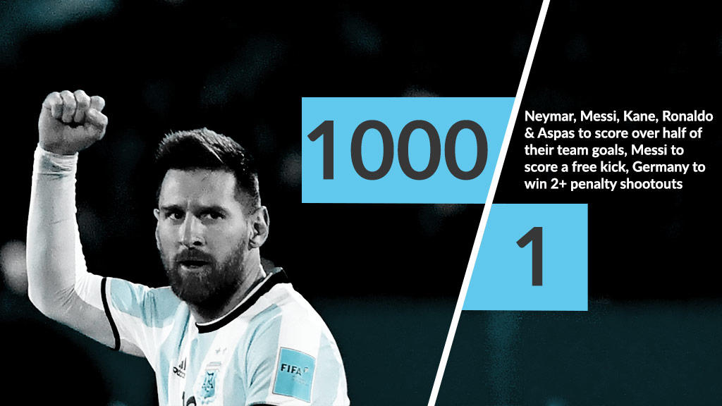 Will all the big names 'turn up' at the World Cup?  Can Germany keep their 100% World Cup penalty shootout record whilst notching up another two wins?  1️⃣0️⃣0️⃣0️⃣/1️⃣ available if they do!  This & many other #Russia2018 #PriceItUp offers here: https://t.co/IfvlrVegeK