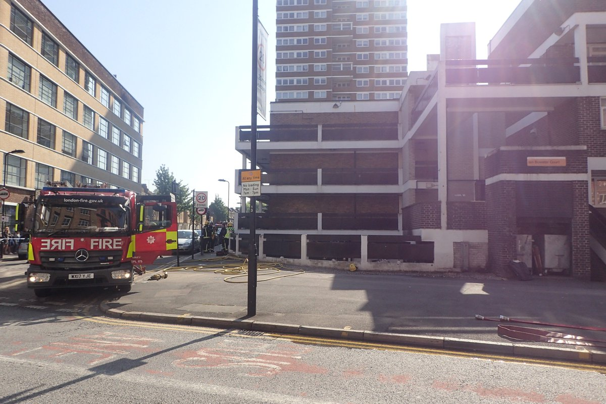 The Brigade's 999 Control Operators took 18 calls to a fire at a block of flats in #Hackney The cause is believed to be unsafe disposal of smoking materials - prompting a warning from firefighters to smokers to take care of how they dispose of cigarettes https://t.co/cIzL9kJL2j