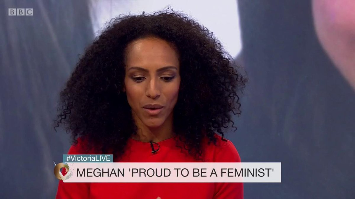 If Meghan can normalise feminism, and send a message that this is what we expect of people in positions of power, that will be very helpful, says author @afuahirsch #VictoriaLIVE