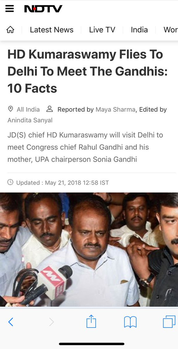 @INCIndia dynasty: They support #JDS unconditionally but @hd_kumaraswamy have to travel to delhi for talks. Such an Oxymoron Unconditional support. Karnataka successfully cheated by @INCKarnataka . #KarnatakaCMRace