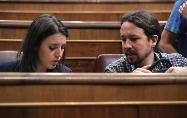 eldiario.es's photo on Iglesias y Montero