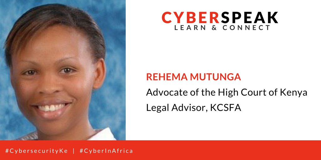 GUEST 004: Rehema Mutunga -- Advocate of the High Court of Kenya Profile: @RehemaAdv  Stay tuned via: #CyberInAfrica  #CybersecurityKe @kcsfa @Myk_Felix @RehemaAdv @Borderless_i @4infosec @mambo_sm  @wahomefred <br>http://pic.twitter.com/WUk7VRPQtx