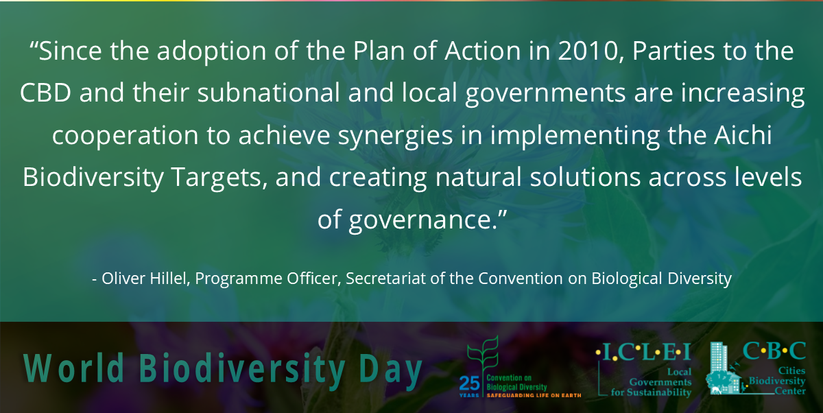 #DYK #IntlBiodiversityDay is tomorrow! 🌳   See what else Oliver Hillel (@UNBiodiversity) has to say about #nature-based solutions & the latest innovations in the field:   https://t.co/gm39AVYbJe #AichiTargets