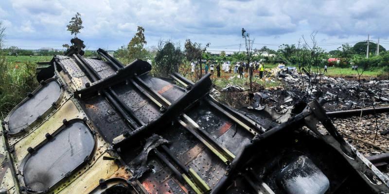Accidente aéreo en Cuba