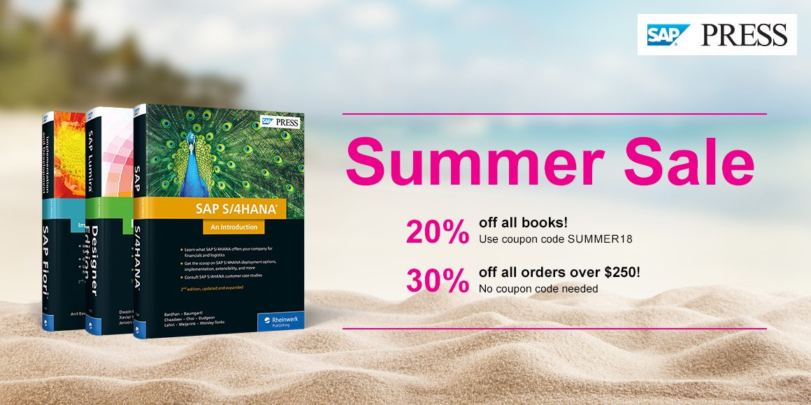 coupons for sap press books