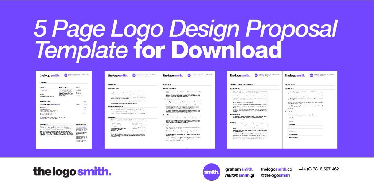Logo Design Proposal 5 Page Indesign Template For Https Smith Gl 2rum7yu Loesign Loesigner Graphicdesigner Graphicdesign