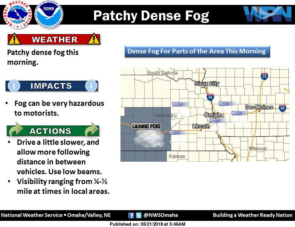 Patchy dense fog this morning. #newx #iawx