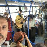 Great start of the week by boarding the 26 bus line to enjoy w/ Belgraders the #ne/vidljivi Grad Beograd #in/visible Belgrade# live performance by #DahTeatar & listen to the fantastic stories of this great city #EuropeanYearCulturalHeritage#