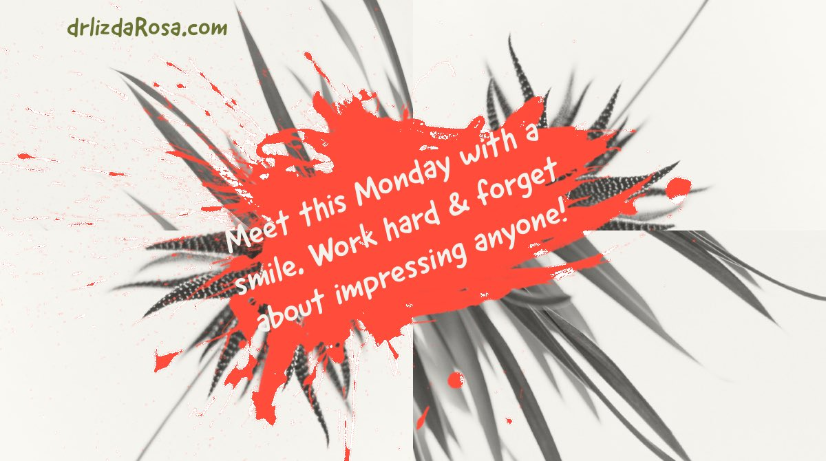 It's Monday - again! ???? - work hard & forget about impressing anyone. ???? #SuccessTRAIN #MondayMotivation https://t.co/I3yN36s074