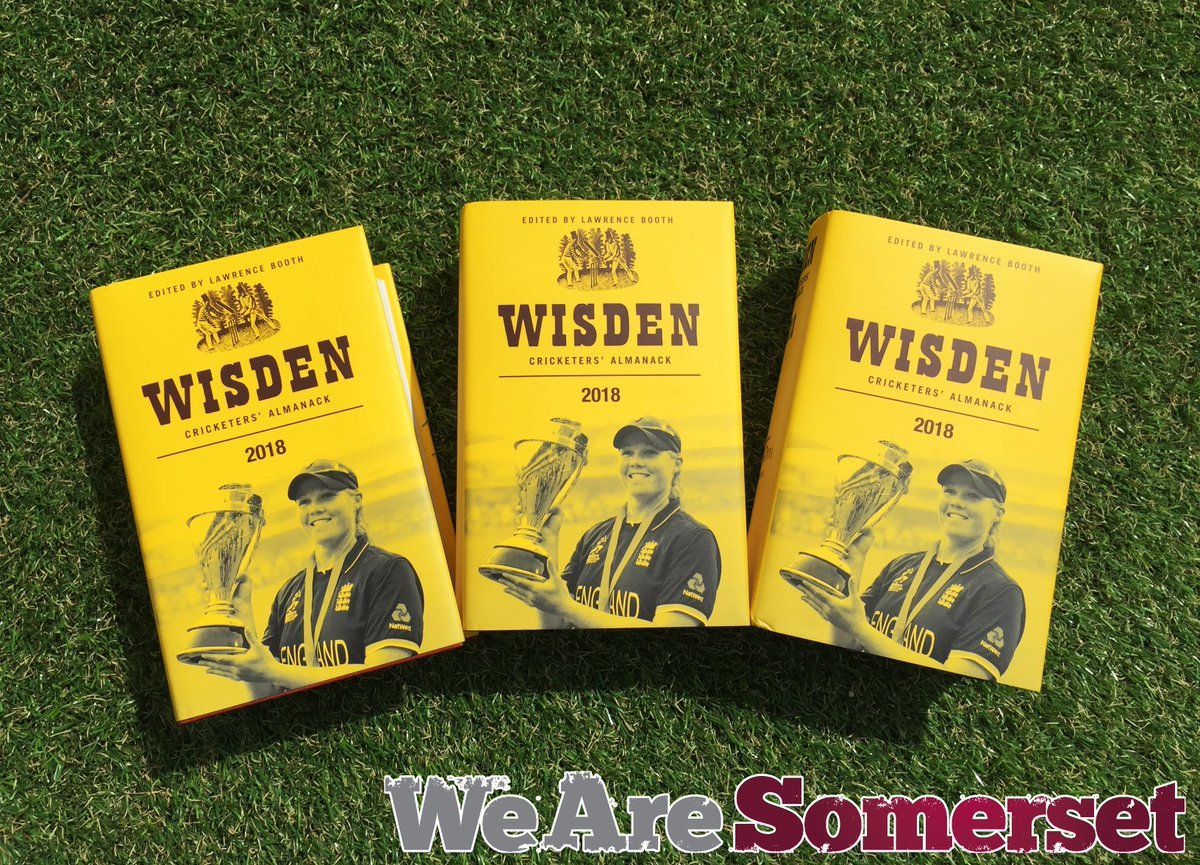 ⚠️ WIN ⚠️   We are giving away a copy of the 2018 @WisdenAlmanack to 3 of our followers! Simply like and RT to be in with a chance!   wisdenalmanack.com/2018  #WeAreSomerset
