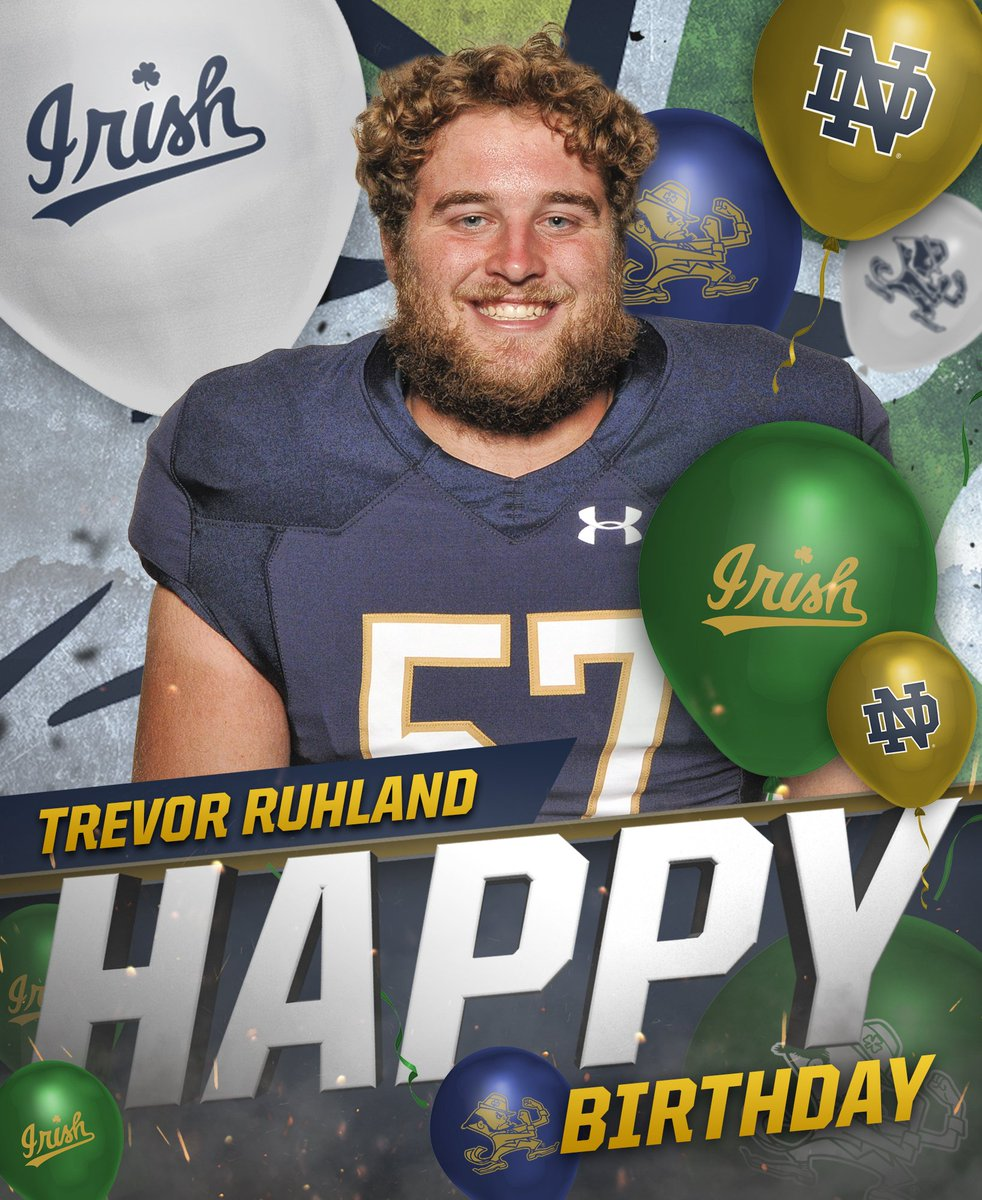Happy Birthday, @RuhlandTrevor! 🎉 #GoIrish ☘
