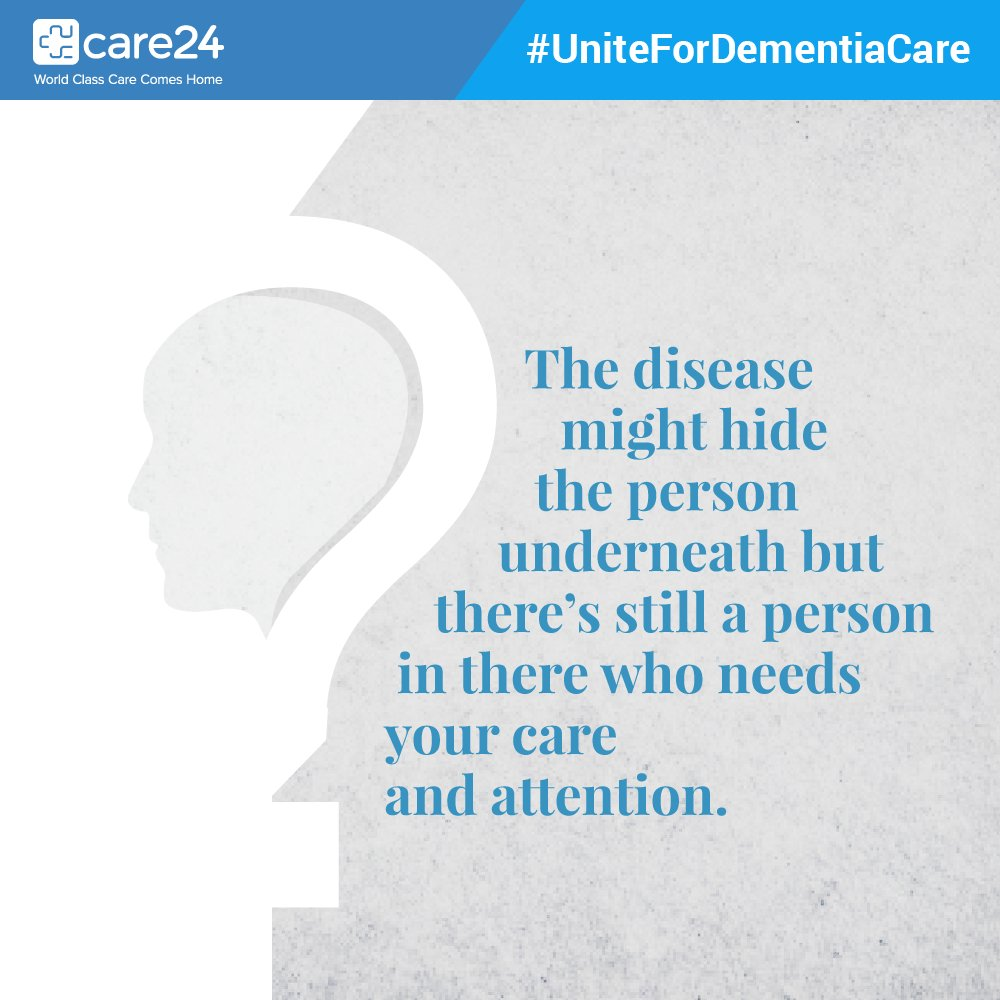 Care24 On Twitter People With Dementia May Exhibit The Following