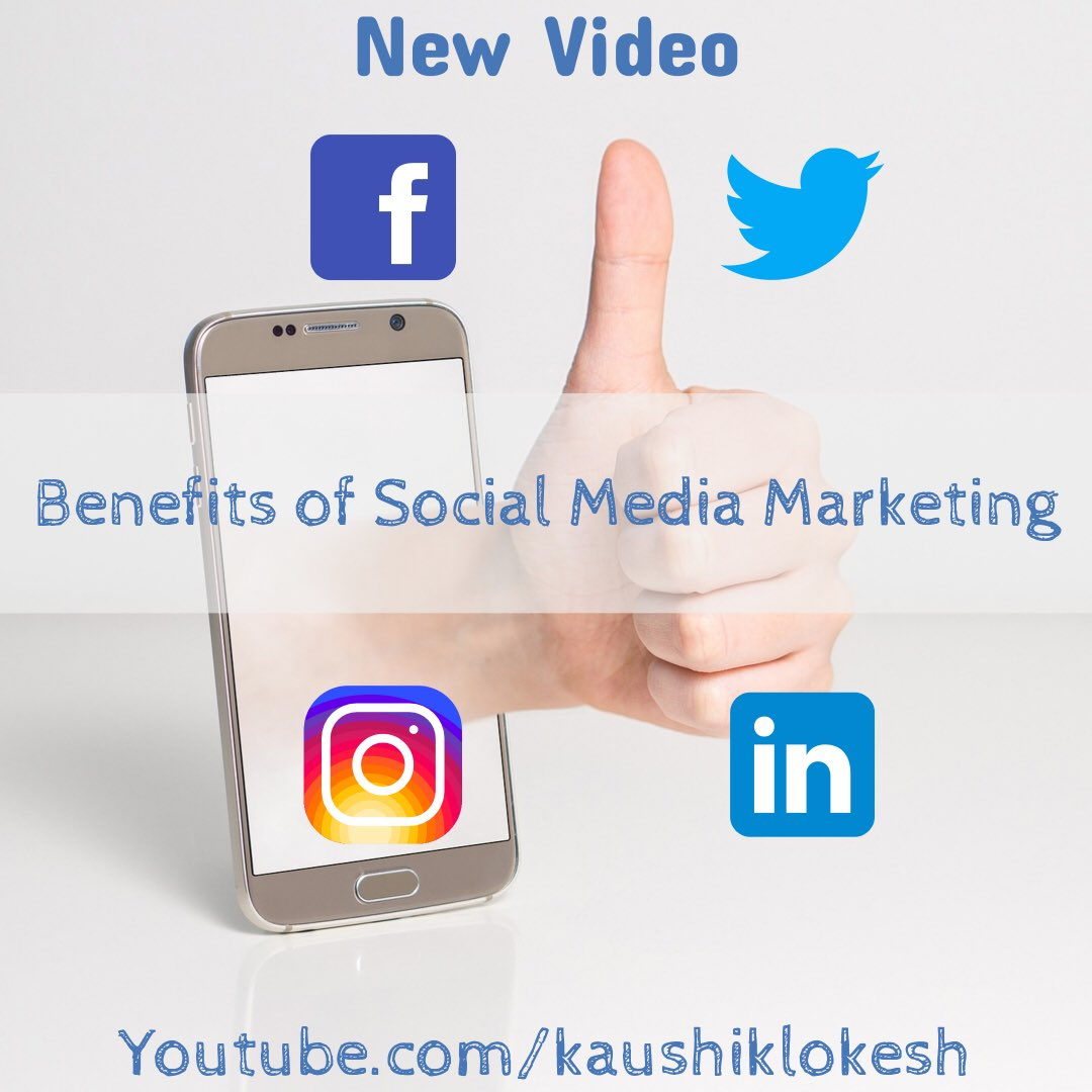 Check out my latest video about benefits of social media marketing for businesses. #lokeshkaushik #Socialmedia #socialmediamarketing