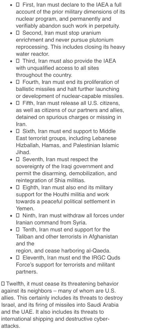 Usas 12 points ultimatum for iran includes withdrawal from syria usas 12 points ultimatum for iran includes withdrawal from syria and stop support for all regional allies expocarfo Images