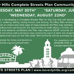 Image for the Tweet beginning: #BeverlyHills Complete Streets planning is