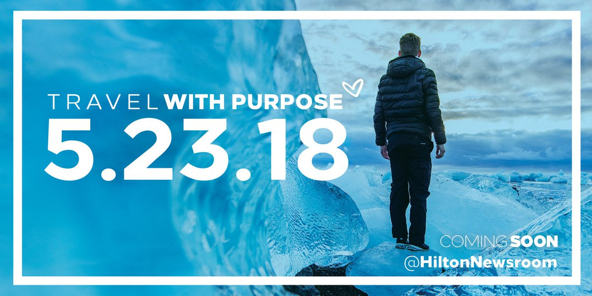 We've got big news to share. Do you Travel with Purpose? #Hilton2030