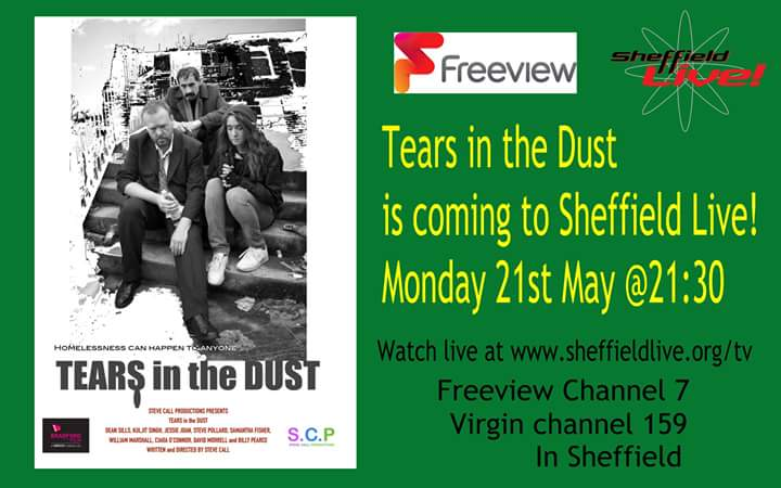 Dean sills on twitter tearsinthedust comes to sheffieldlive on freeview channel 7 or virgin channel 159 and if you dont have either or live in sheffield you can always watch live httpsheffieldlivetv publicscrutiny Images