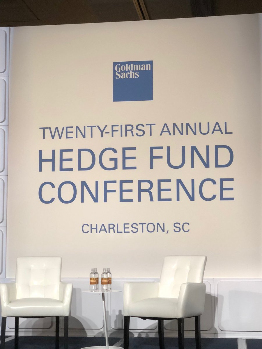 Looking forward to the keynote from @DavidtheAdmiral at the @GoldmanSachs Hedge Fund Conference in Charleston.