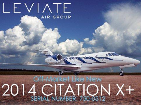Leviate Air Group presents Off Market Like New 2014 #Cessna #CitationX+ Very Low Time - Garmin G5000 Avionics Suite - SVT  Get more details at  http:// ow.ly/Swr730k6nCr  &nbsp;    #bizjet #bizav #aircraftforsale #privateaviation #privatejet #privateflying #jetforsale #businessaviation<br>http://pic.twitter.com/NKpUqssPz9