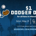 Image for the Tweet beginning: It's $1 Dodger Dog Night
