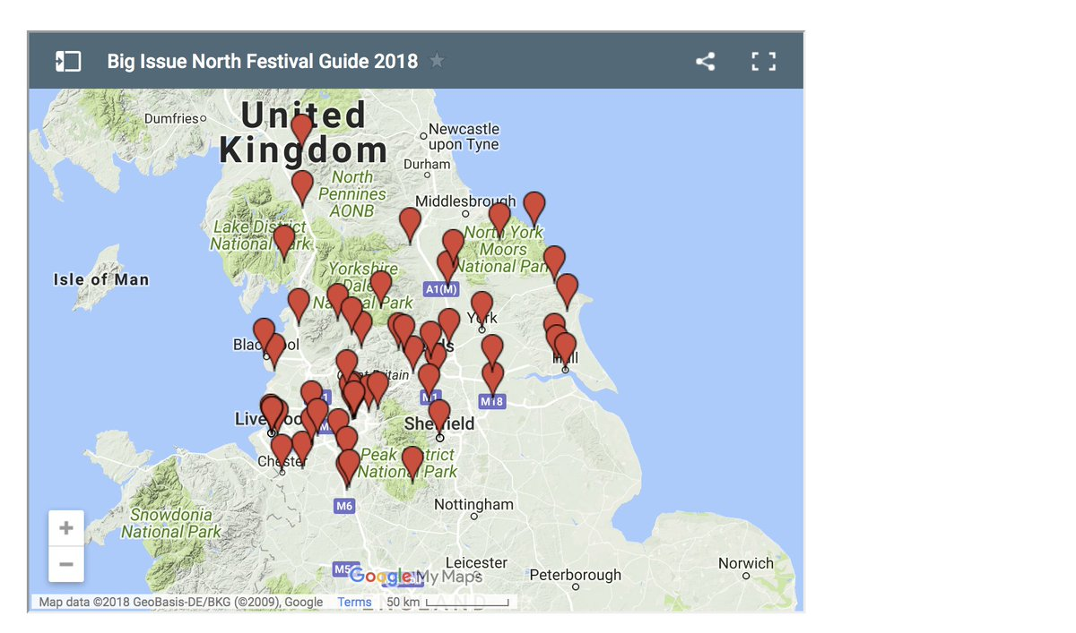 Big Map Of England.Big Issue North On Twitter Missed Our Festival Guide For The