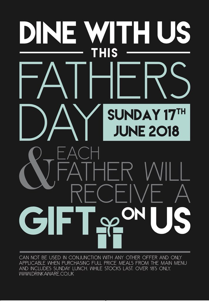 The White Bear On Twitter Dine With Us This Fathers Day Each