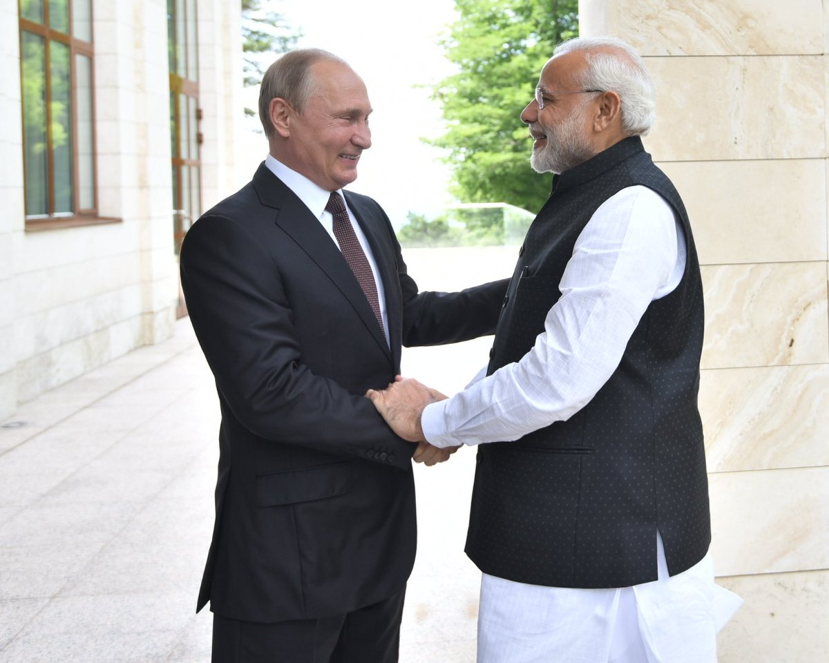 Extremely productive discussions with President Putin. We reviewed the complete range of India-Russia relations as well as other global subjects. Friendship between India and Russia has stood the test of time. Our ties will continue to scale newer heights in the coming years.