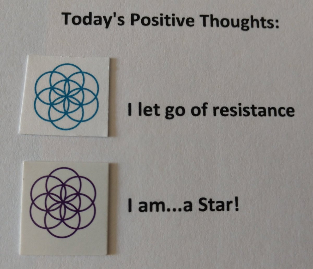 test Twitter Media - Today's Positive Thoughts: I let go of resistance and I am...a Star! #affirmation https://t.co/NR94xHwfh6