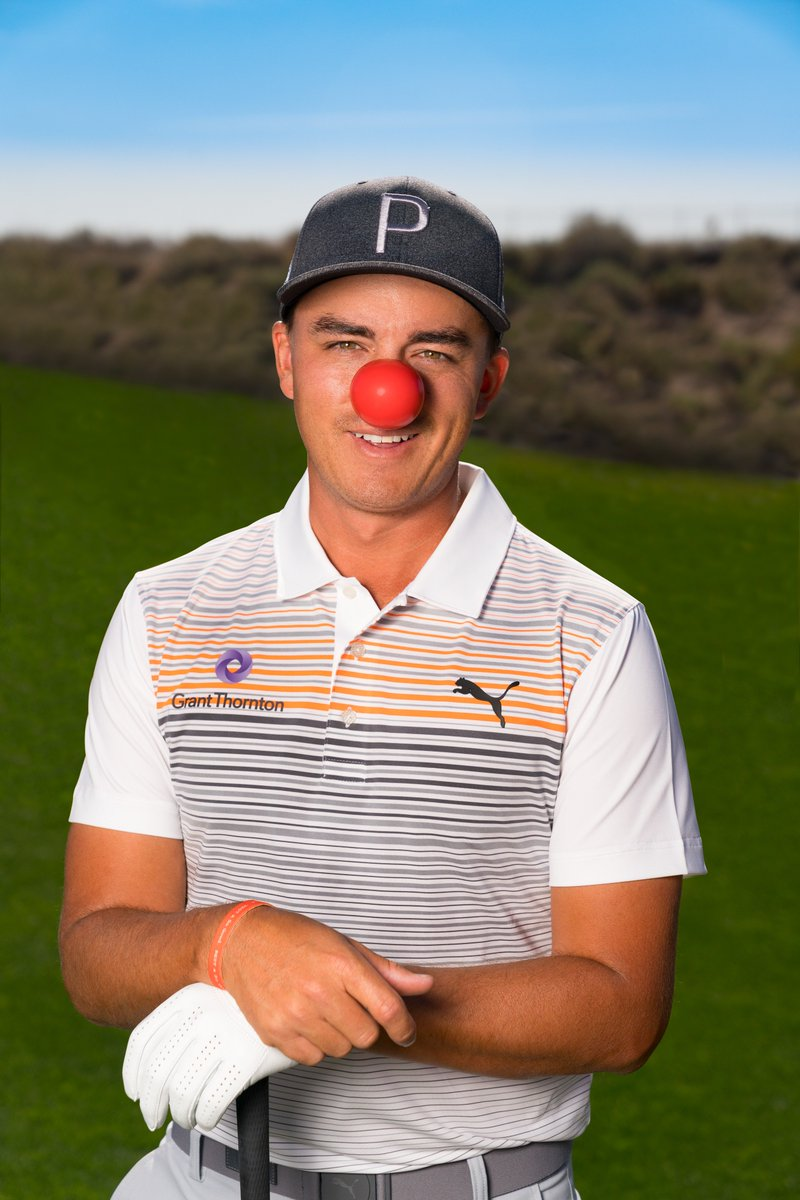 Are you ready to sport your Red Nose this week? @RickieFowler & the whole GT team are! #NosesOn & let's all join together to help fight child poverty. #RedNoseDay