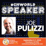 Come meet @joepulizzi at Content Marketing World. Early Bird prices end next week, so register NOW! (PS want to save a little more? Use code TW100 to take $100 off at checkout.) https://t.co/3ZdgUl33ie #CMWorld