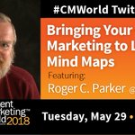 Next week, let's learn about mind maps and how they can help our content marketing with special guest @rogercparker. #CMWorld
