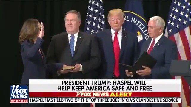 .@VP swears-in Gina Haspel as new Director of the CIA https://t.co/bflYpOgwNb https://t.co/VubzsluYeI