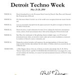 Thank you @MayorMikeDuggan and the @CityofDetroit for the awesome recognition🙌 We're incredibly honored to be a part of the City that celebrates the origins of #Techno music🎶Let the festivities begin🎉 #MovementDetroit #DetroitTechnoWeek