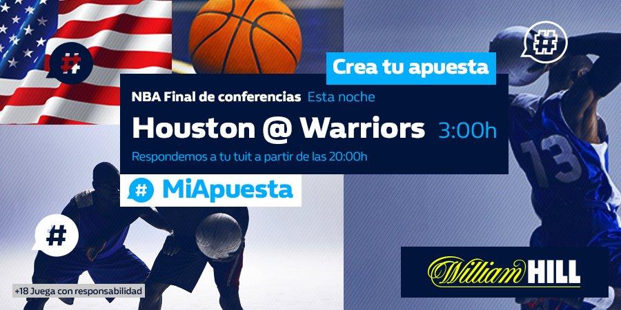 Duelo de altura esta madrugada en la #NBA. Cuarto partido de la serie entre Warriors y Rockets.  Pide ya tu cuota en #MiApuesta 👉 bit.ly/2KyNXph