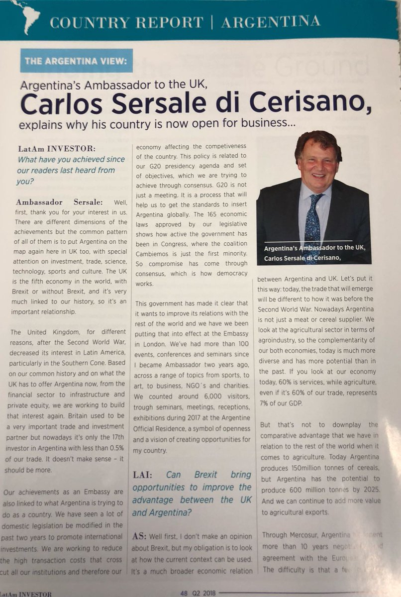 brandinglatinamerica on twitter super interesting interview with argentine ambassador carlossersale take a look at lataminvestor magazine for more