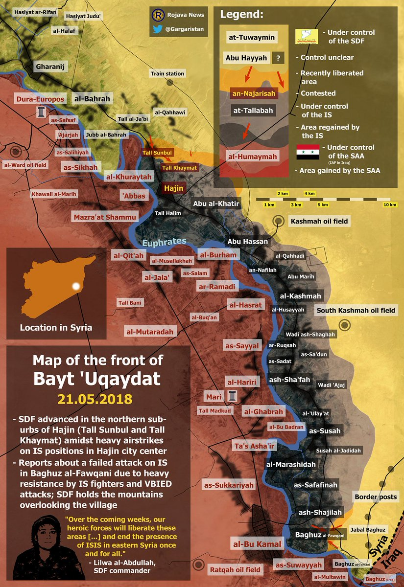 Situation in Euphrates valley