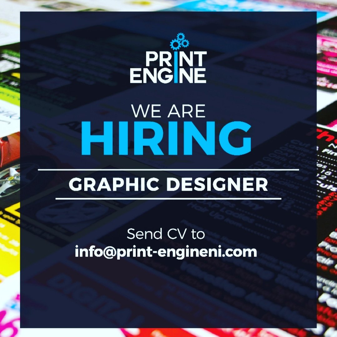 Print Engine On Twitter We Are Looking For A Creative Graphic Designer To Join Our Team Graphic Designer Graphicdesigner Graphicdesignjobs Printengine Spreadtheword Jobsearch Printing Wearehiring Https T Co F3vmdfs5yf