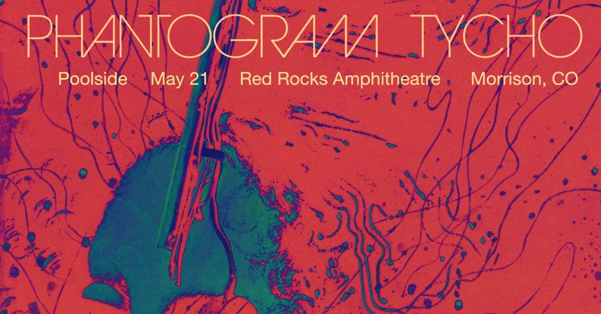 TONIGHT: @Phantogram and @ISO50 with @poolside at #RedRocksCO Doors 6:00 p.m.   Show 7:00 p.m.