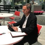 Looking for meetings space & a quick charge for your smart phone? Come to S292N like @denlauver & make yourself at home. #ICSCRECon #REALTORS-only #CRE