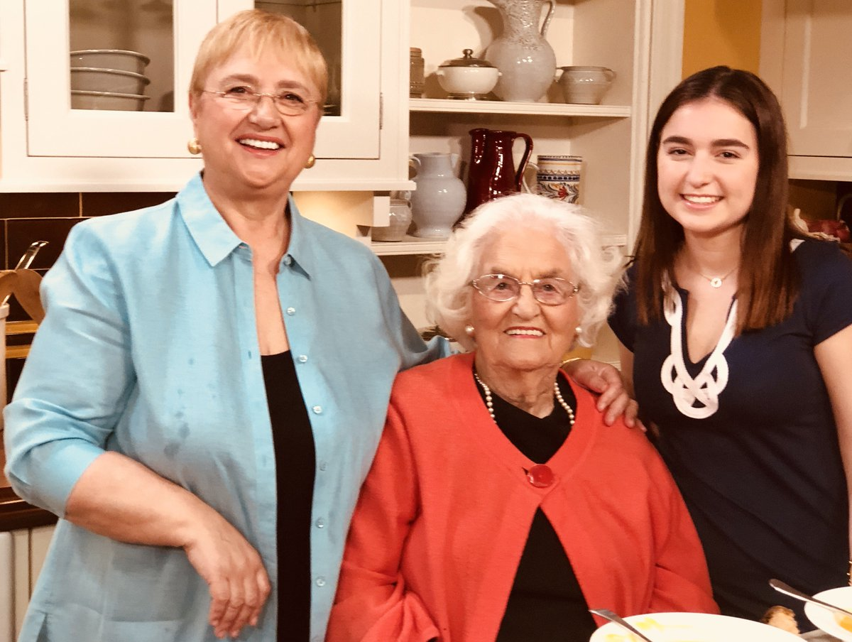 Lidia Bastianich On Twitter On Set With Grandma And Julia Filming
