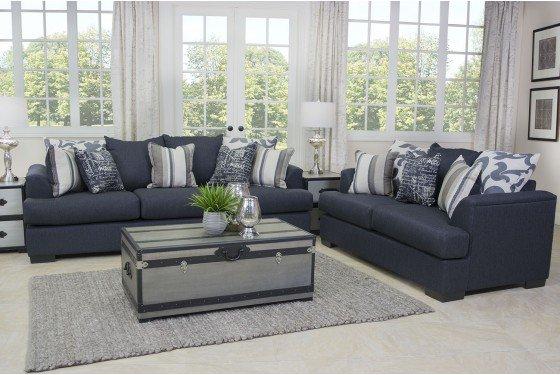 Shop This Look Here: Https://www.morfurniture.com/passport Living Room.html  U2026 #livingroom #accentpillows #navyblue #livingroomgoals ...