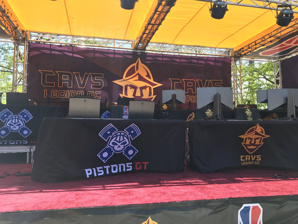 Come watch @CavsLegionGC in action tonight on Gateway Plaza! 🎮 #WhateverItTakes