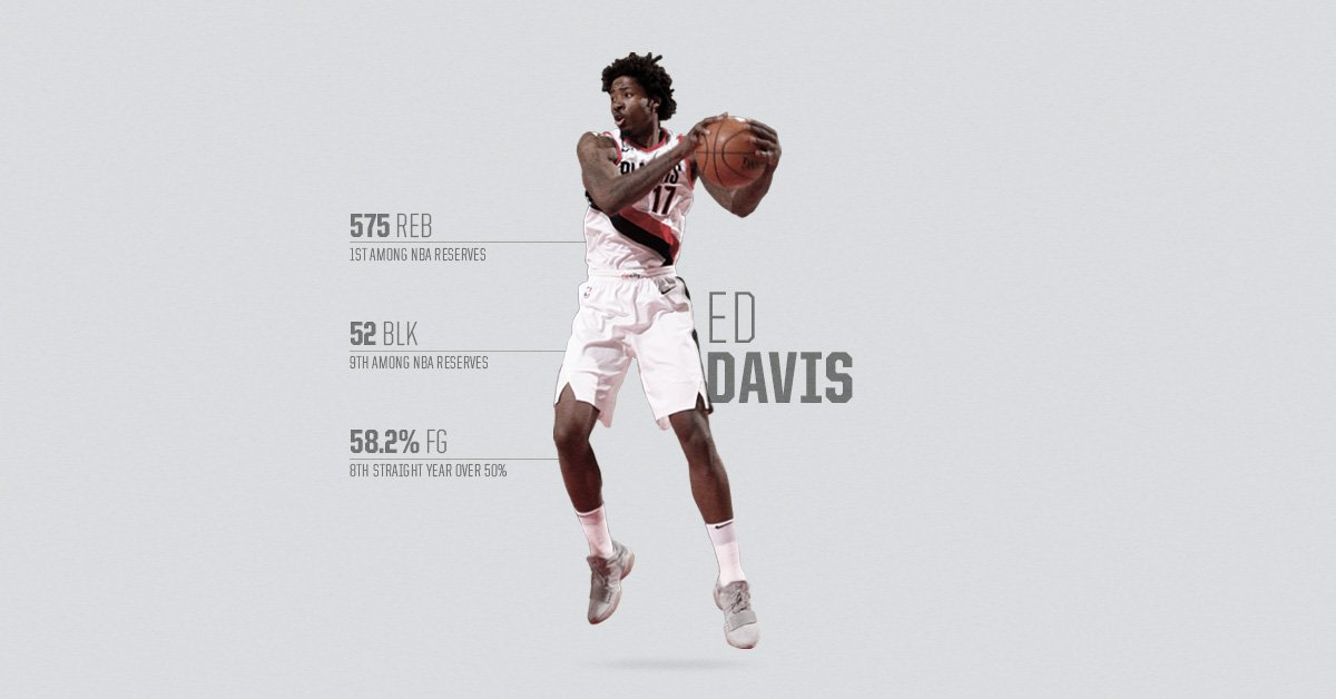 When his number is called, @eddavisXVII delivers. PLAYER PROFILE: rip.city/2rXlWjZ