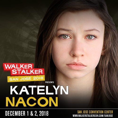 GUEST ANNOUNCEMENT – Katelyn Nacon / @katelynnacon (Enid, #TheWalkingDead) joins us for #FFSanJose!