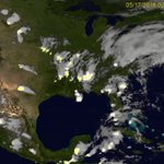Image for the Tweet beginning: This lightning storm shown from