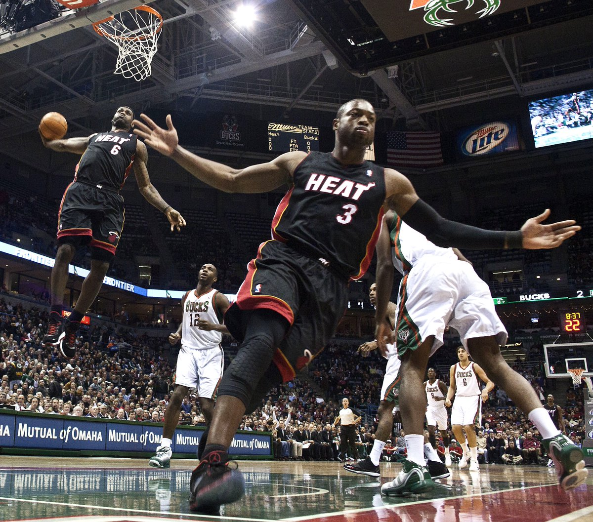 This is only photo D Wade said he'd ask LeBron to sign and hang in his home when he retires, per @mcten